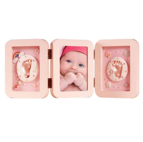 Baby Handabdruck und Fußabdruck