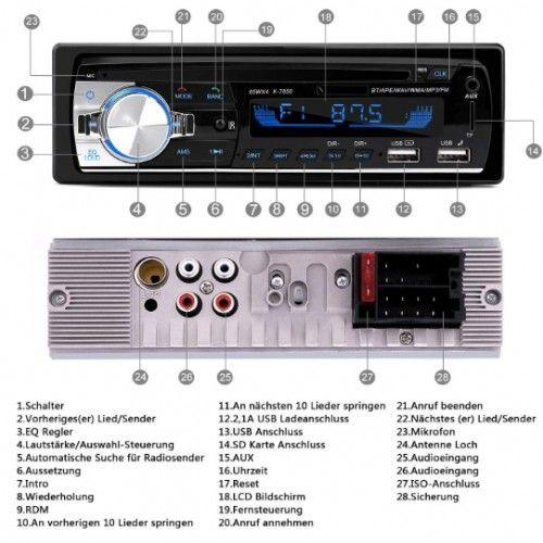Autoradio mit Bluetooth Freisprecheinrichtung