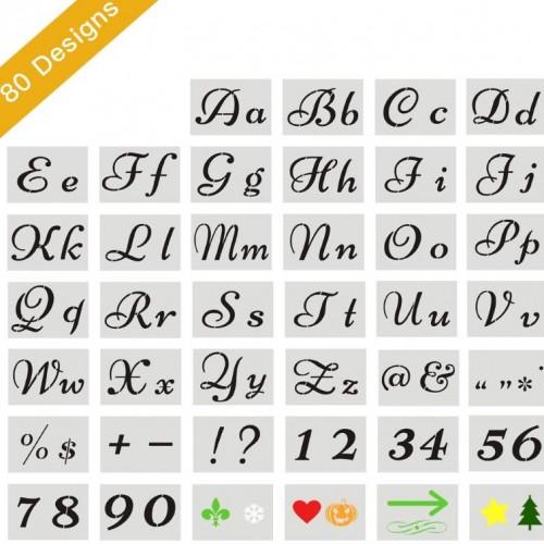 Buchstaben Schablone 40er Set