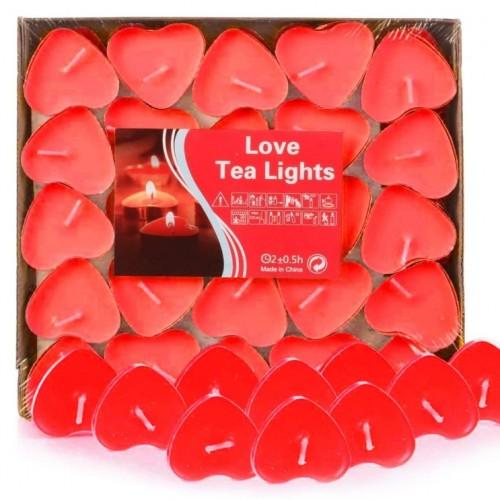 50er Herzform Kerzen